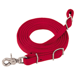 "NYLON FLAT ROPER REIN  5/8""x8' RED - Palmer Farm and Ranch"