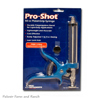 PRO-SHOT 50cc PISTOL GRIP SYRINGE - Palmer Farm and Ranch
