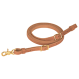 "HARNESS LEATHER FLAT ROPER REIN 5/8""x7' - Palmer Farm and Ranch"