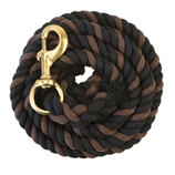 STRIPED COTTON LEAD ROPE WITH SOLID BRASS 225 SNAP - Palmer Farm and Ranch