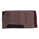 "DOUBLE WEAVE 1"" 32X32 BURGUNDY BLACK - Palmer Farm and Ranch"