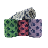 "PETFLEX 2"" WRAP - BLUE PAW ON NEON PINK - Palmer Farm and Ranch"